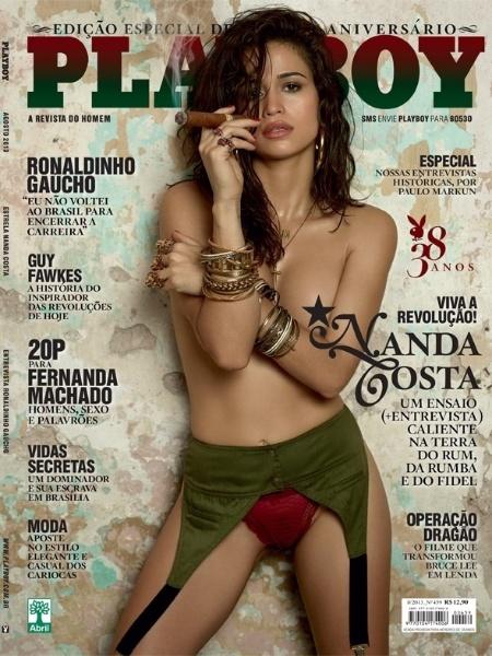"""7.ago.2013 - A revista """"Playboy"""" divulgou imagem da capa da edição de agosto com a atriz Nanda Costa. O ensaio foi feito em Cuba e Nanda teria recebido cachê de R$ 3 milhões. Em entrevista ao UOL, ela disse que se preocupou em mostrar uma """"mulher real"""""""
