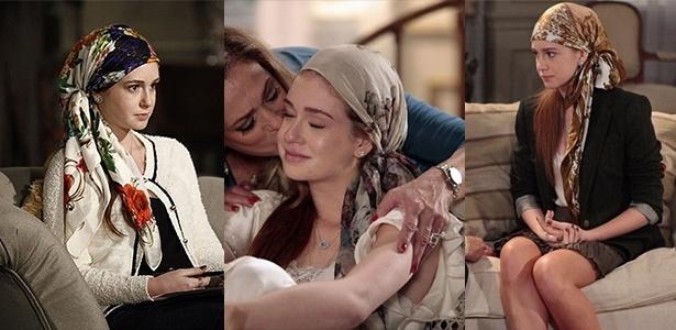 """A personagem Nicole, interpretada por Marina Ruy Barbosa, usa lenços da marca Scarf Me na novela """"Amor à Vida"""" - Divulgação"""
