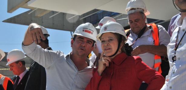 A ministra da Cultura Marta Suplicy visita a Arena Corinthians para lançamento do programa cultural da Copa do Mundo de 2014, zona leste de São Paulo (SP) - GERO/FUTURA PRESS/FUTURA PRESS/ESTADÃO CONTEÚDO