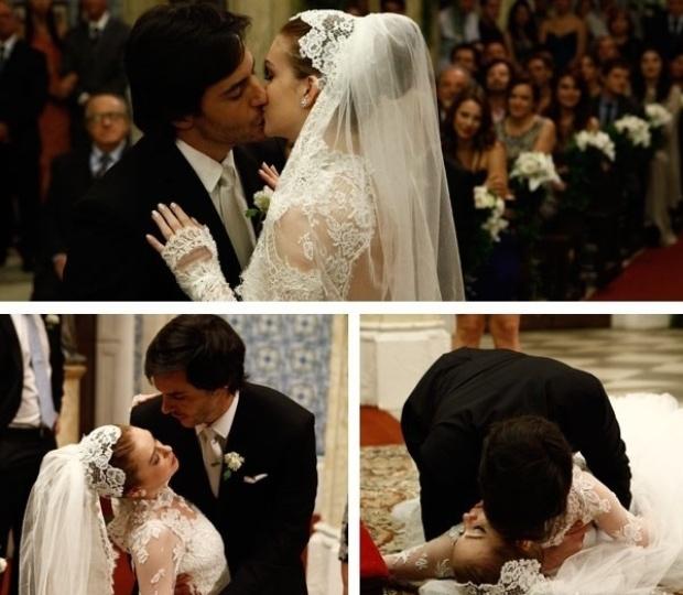 """Em """"Amor à Vida"""", Nicole morre no altar ao ver fotos de Thales e Leila"""