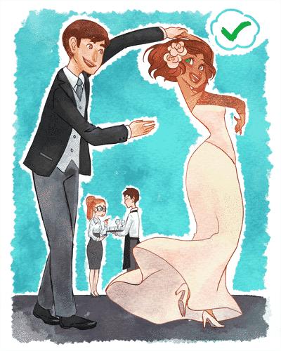Ilustração para matéria de prós e contras de contratar uma assessoria de casamento - Leh Latte/Arte UOL