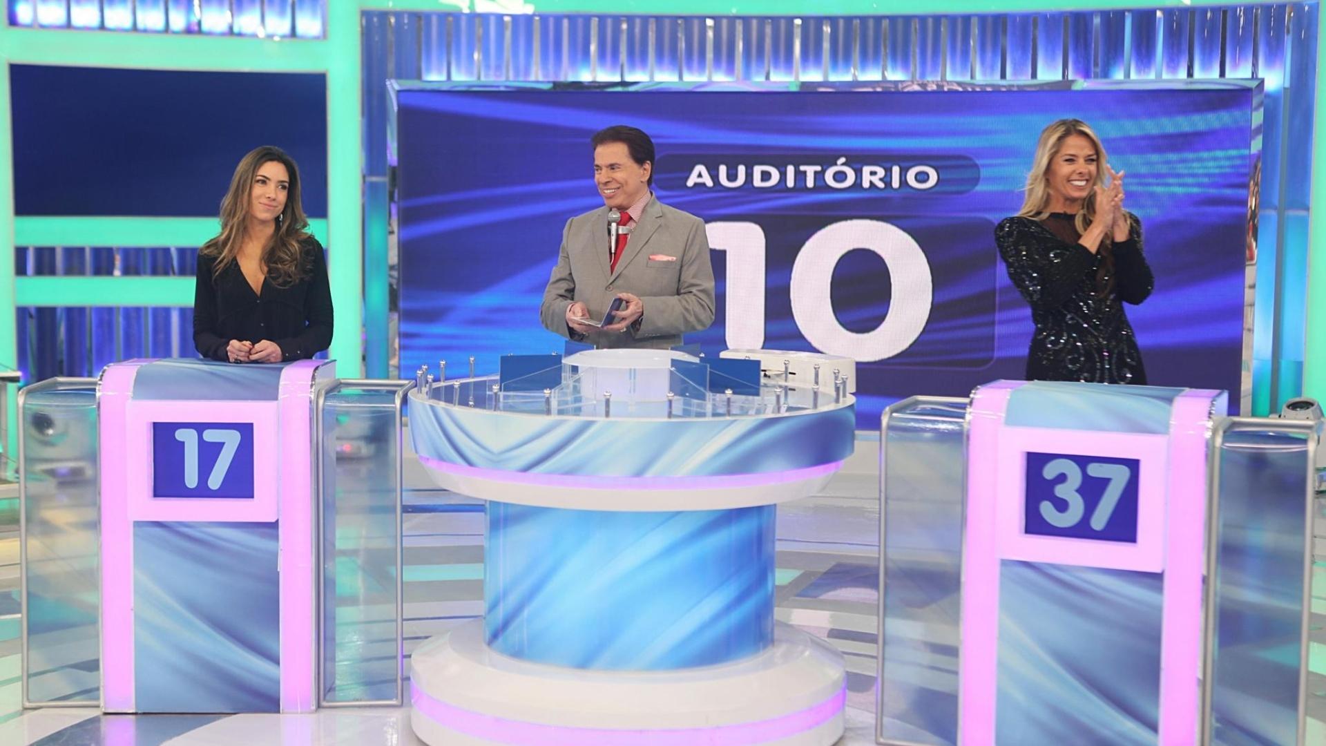 Patrícia Abravanel, Silvio Santos e Adriane Galisteu no