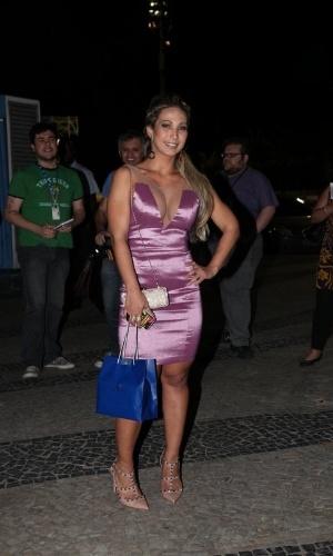8.ago.2013 - Valesca Popozuda no aniversário de 39 anos de Preta Gil no Copacabana Palace, Rio de Janeiro