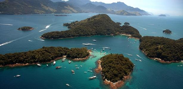 Vista da Lagoa Azul, nos arredores de Ilha Grande, no litoral sul do Rio de Janeiro - Divulgação