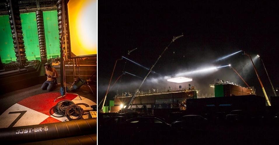 """Usina de energia criada em estúdio em Long Island para o filme """"O Espetacular Homem-Aranha 2"""""""
