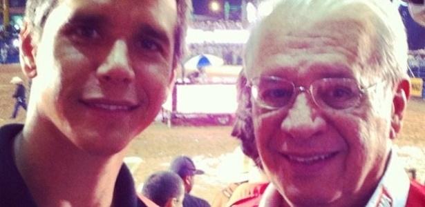 11.ago.2013 - O ator Marcio Garcia mandou recado para seu pai pelo Instagram
