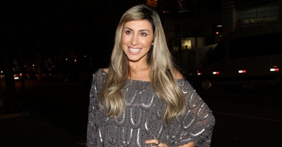 """13.ago.2013 - A ex-BBB Jaque Khury na festa de lançamento da revista """"Playboy"""", estrelada por Nanda Costa, em São Paulo"""