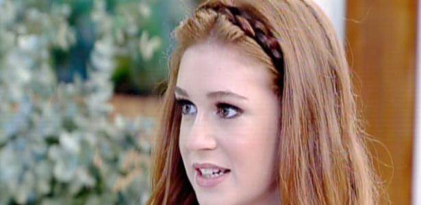 """13.ago.2013 - Marina Ruy Barbosa diz no """"Mais Você"""" que rasparia os cabelos para """"Amor"""""""