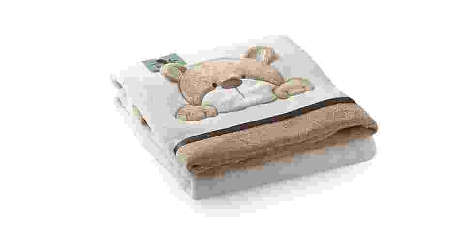 Cobertor microfibra Urso Bege, da RMC Home-Baby. Na loja Novo Bebê. (www.novobebe.com.br). R$ 95,40. Preço consultado em agosto de 2013, sujeito a alterações - Divulgação