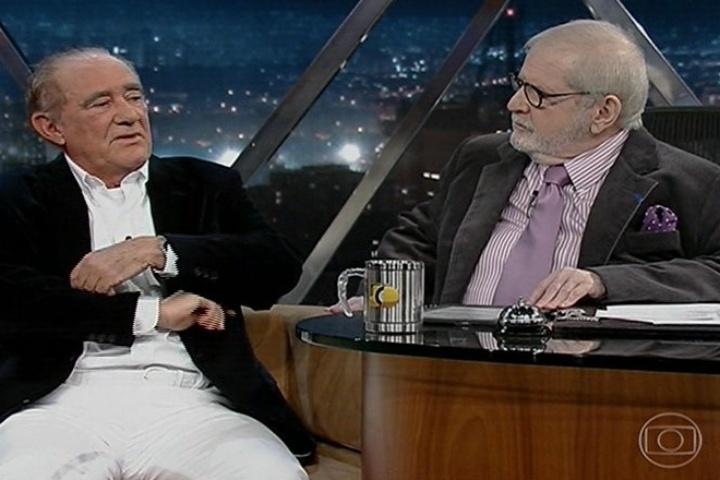 Renato Aragão com Jô Soares no