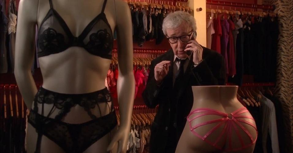 Woody Allen em cena do filme