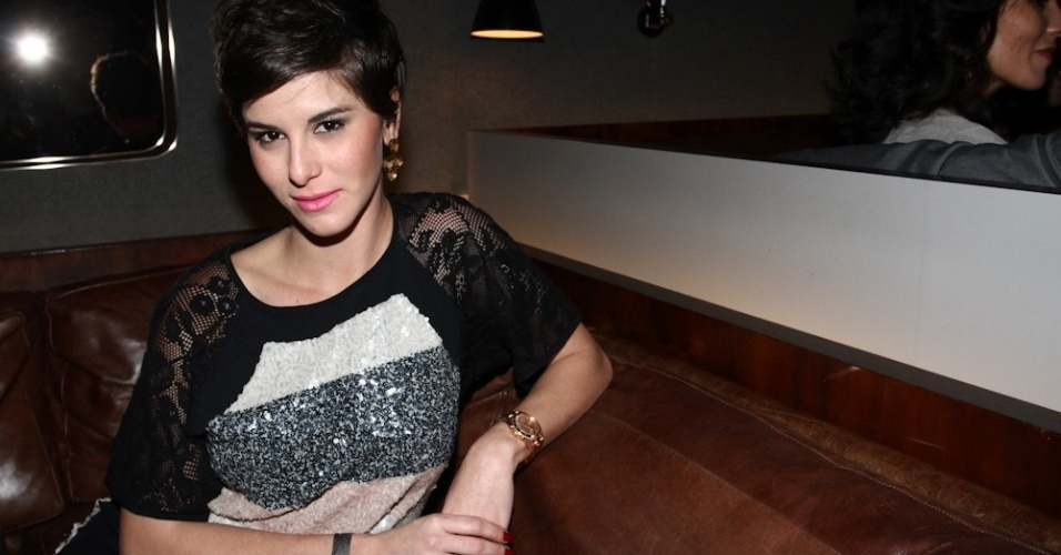 """13.ago.2013 - Dani Moreno na festa de lançamento da revista """"Playboy"""", estrelada por Nanda Costa, em São Paulo"""