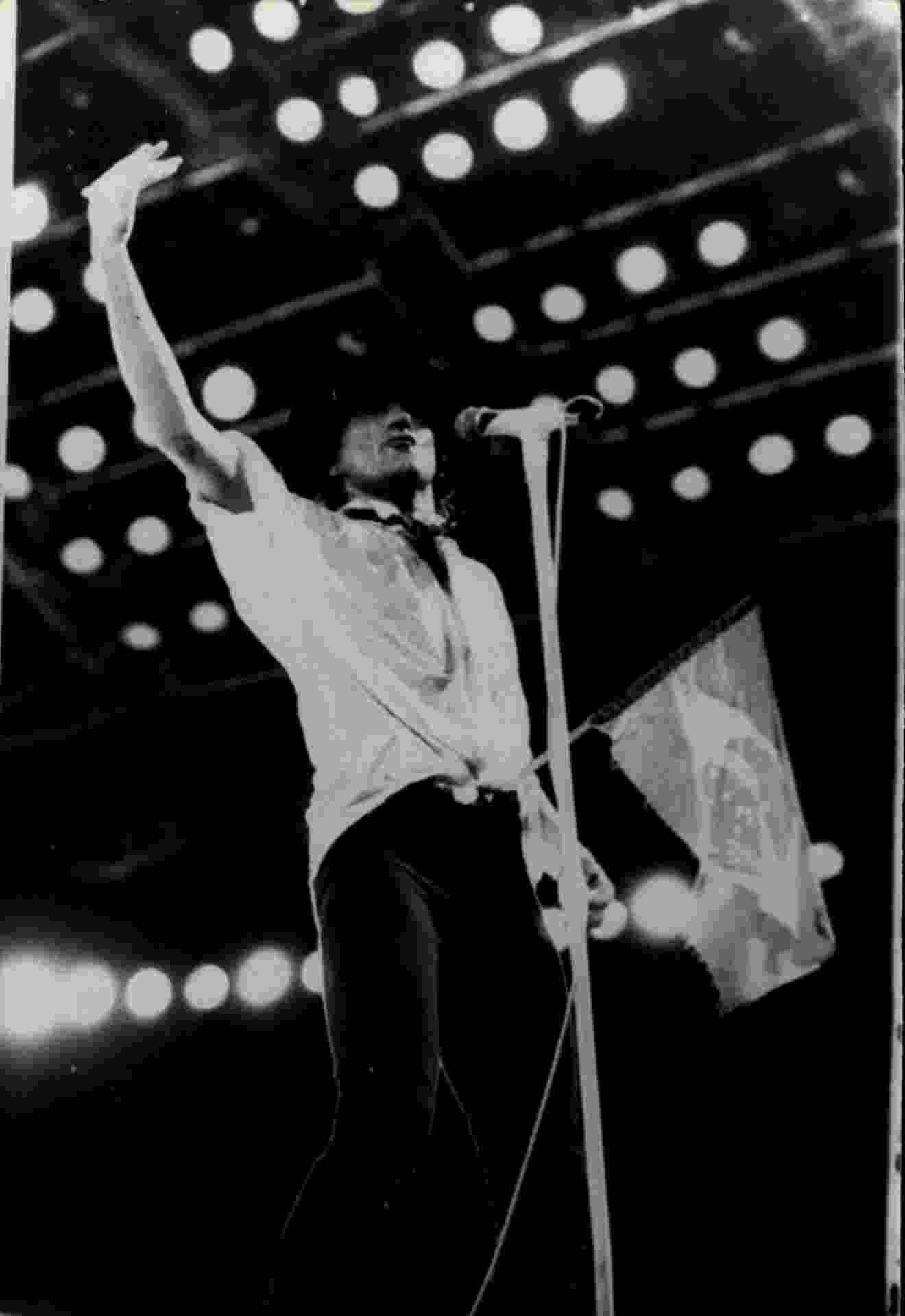 Apresentação do cantor Rod Stewart, no Rock in Rio 1985 - Renata Falzoni/Folhapress