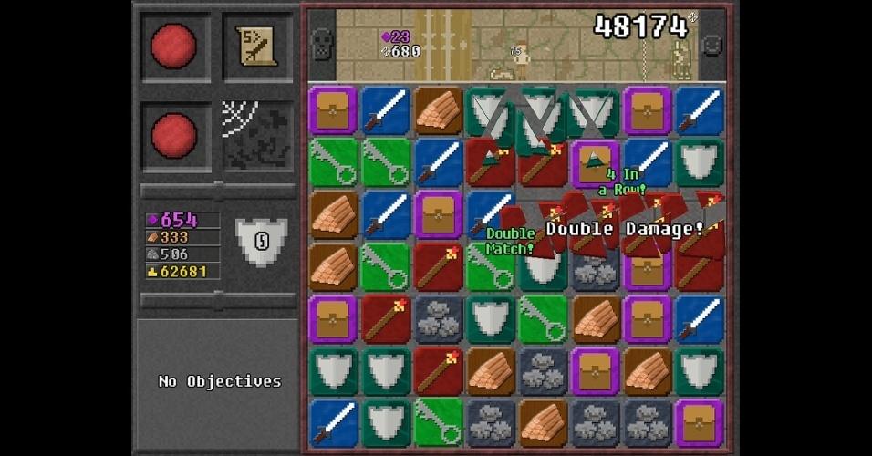 """Mistura de puzzle e RPG, em """"10000000"""" você precisa marcar os 10 milhões de pontos para escapar. Disponível para iOS, Android e PC."""