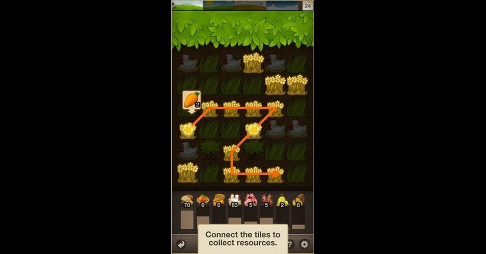 """""""Puzzle Craft"""" mistura puzzle e construção. Vencendo os puzzles, você consegue materiais para erguer sua aldeia. Disponível para iOS, Windows 8 e Android."""
