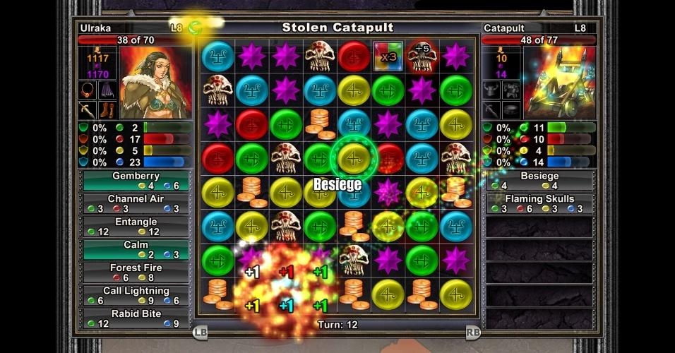 """""""Puzzle Quest"""" foi lançado em 2007 para Nintendo DS e PSP, chegando posteriormente a diversas plataformas, inclusive mobile."""