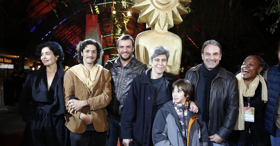 14.ago.2013 - Letícia Sabatella, Fernando Alves Pinto, Rodrigo Lombardi, Marco Ricca apresentam o filme