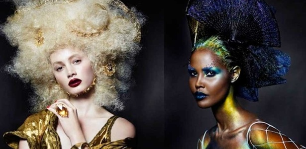 Distritos quatro e um, respectivamente, representados com a maquiagem da linha de Covergirl - Divulgação