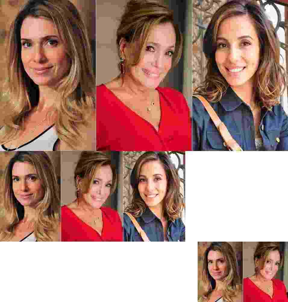Letícia Spiller, Susana Vieira, Tânia Khalill - TV Globo/Montagem/UOL