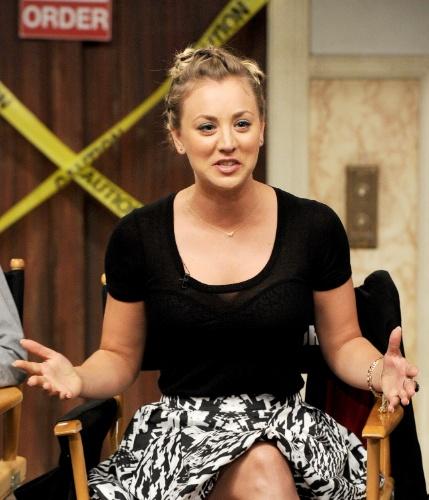 """15.ago. 2013 - """"Temos consciência de que isso é algo muito especial e nós levamos isso muito a sério"""", afirmou a atriz Kaley Cuoco, a Penny da série """"The Big Bang Theory"""""""