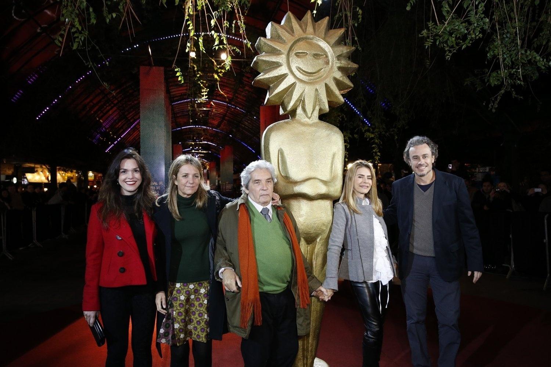 15.ago.2013 - A atriz Maitê Proença e o diretor Domingo de Oliveira apresentam o filme