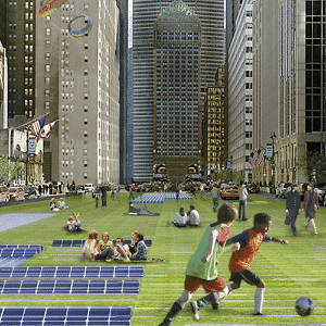 Projeto Audi Urban Future aplicado a uma Berlim (Alemanha) do amanhã pelo estúdio de arquitetura Höweler+Yoon - Höweler+Yoon Architecture/Divulgação