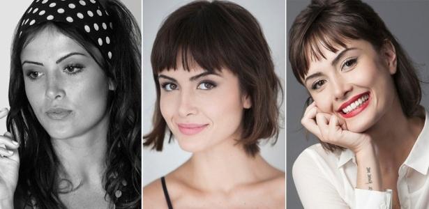 Três momentos da atriz: durante sua temporada em Paris, de volta ao Brasil e na pele de Patrícia - Divulgação/TV Globo