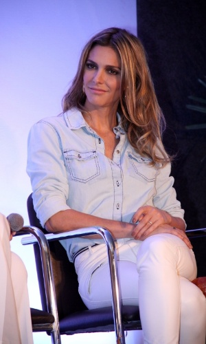 """19.ago.2013 - Fernanda Lima participou do lançamento da campanha """"Criança Esperança 2013"""". O evento aconteceu no Projac, complexo de estúdios da Globo, no Rio"""
