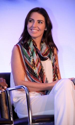"""19.ago.2013 - Glenda Kozlowski participou do lançamento da campanha """"Criança Esperança 2013"""". O evento aconteceu no Projac, complexo de estúdios da Globo, no Rio"""