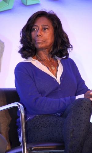 """19.ago.2013 - Gloria Maria participou do lançamento da campanha """"Criança Esperança 2013"""". O evento aconteceu no Projac, complexo de estúdios da Globo, no Rio"""