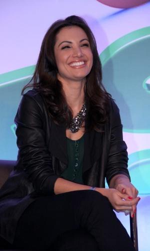 """19.ago.2013 - Patrícia Poeta participou do lançamento da campanha """"Criança Esperança 2013"""". O evento aconteceu no Projac, complexo de estúdios da Globo, no Rio"""