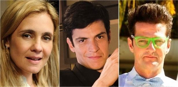 Félix (Mateus Solano, ao centro) combina elementos de Carminha (Adriana Esteves) e Crô (Marcelo Serrado)