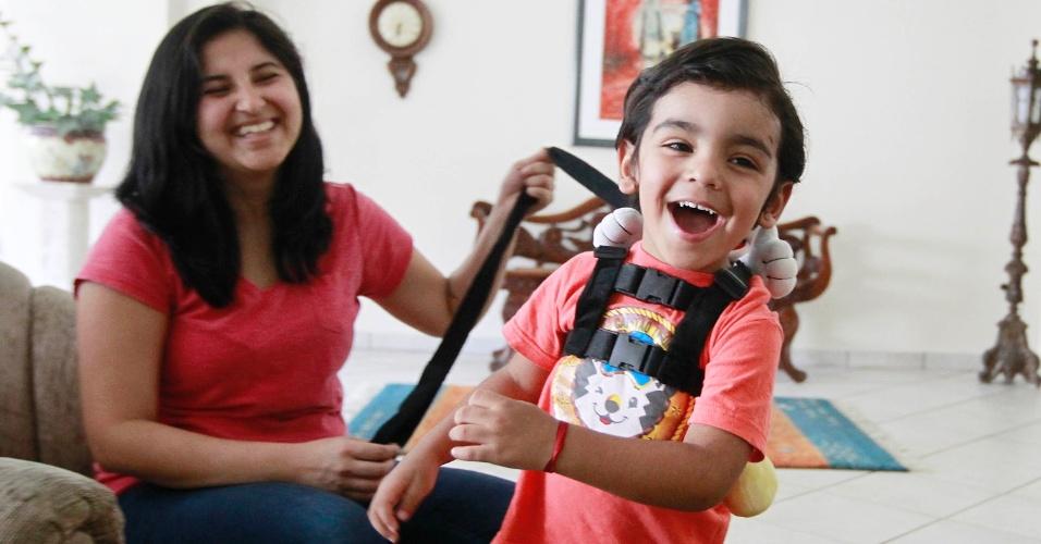 Suelen Cavalcante Vida e o filho, Théo Marques Cavalcante, de 2 anos e 6 meses