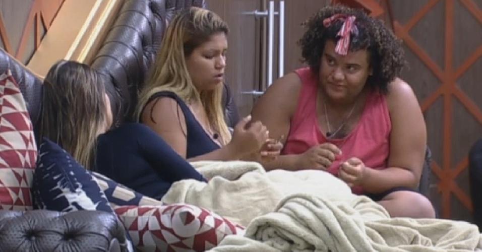 20.ago.2013 - Andressa, Yani e Gominho conversam sobre suas experiências amorosas