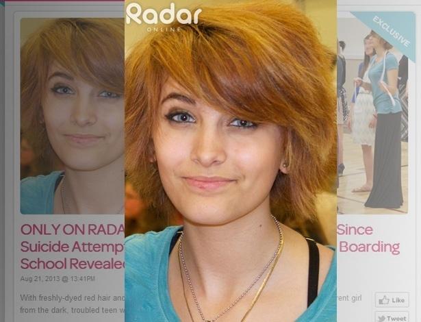 21.ago.2013 - Site Radar Online divulgou primeira imagem de Paris Jackson após tentativa de suicídio