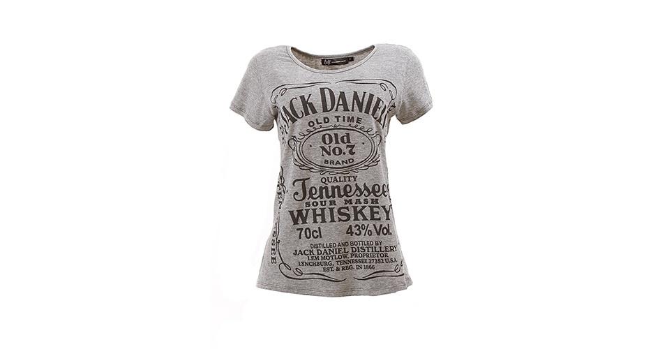 Camiseta Jack Daniels; R$ 59,90, na Lets (www.uselets.com.br). Preço pesquisado em agosto de 2013 e sujeito a alterações