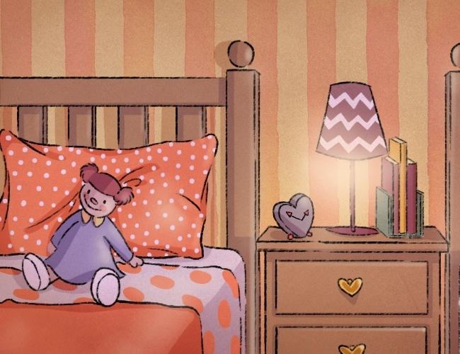 ilustração da coluna mamatraca sobre irmãos que dividem o mesmo quarto