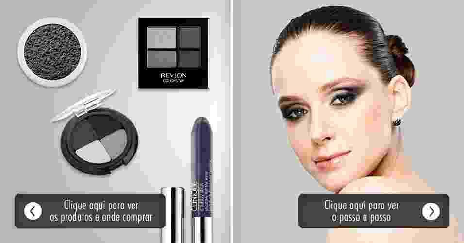Olho esfumado grafite - make e produtos - Adriano Vieira/UOL