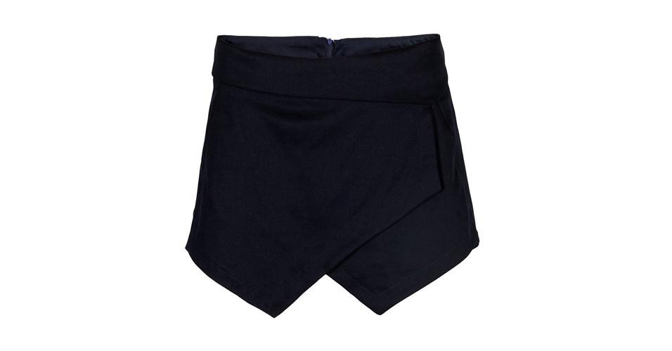 Short-saia assimétrico; R$ 119,90, na Olook (www.olook.com.br). Preço pesquisado em agosto de 2013 e sujeito a alterações