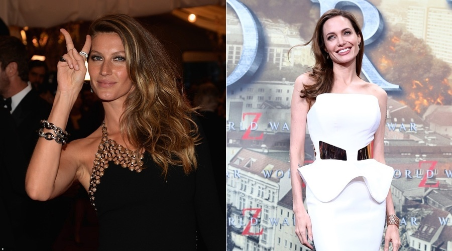 Gisele Bündchen figura acima de Angelina Jolie em lista da Forbes