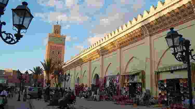 Mesquita Al-Mansouria, a segunda mais importante da cidade de Marrakech - Iris Jönck/UOL - Iris Jönck/UOL