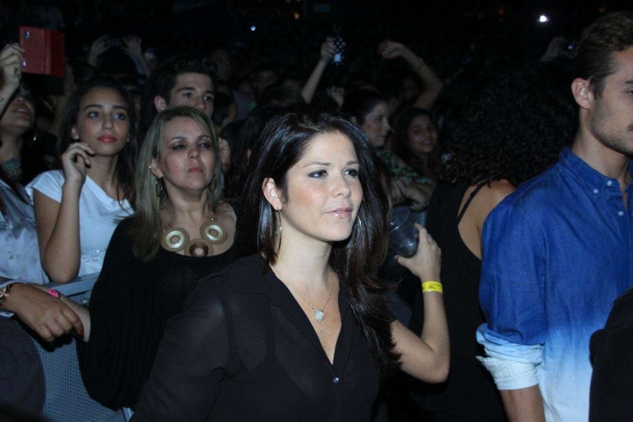 23.ago.2013 - Samara Felippo no show de Thiaguinho no Citibank Hall, na Barra da Tijuca, Rio de Janeiro