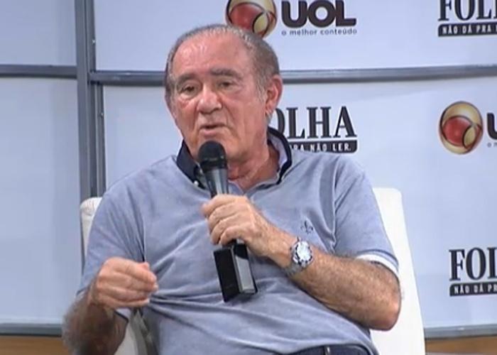 24.ago.2013 - Roda da Folhinha com Renato Aragão