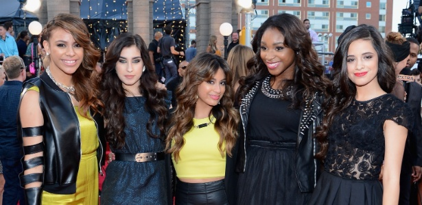 Dinah Jane Hansen, Lauren Jauregui, Ally Brooke, Normani Kordei e Camila Cabello, do Fifth Harmony - Larry Busacca/Getty Imagens