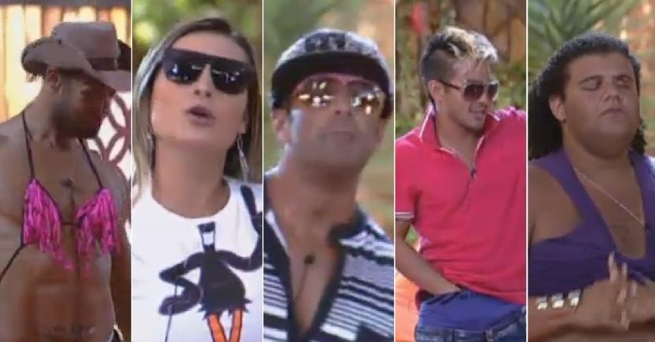 25.ago.2013 - Peões mostram talento na arte de imitar