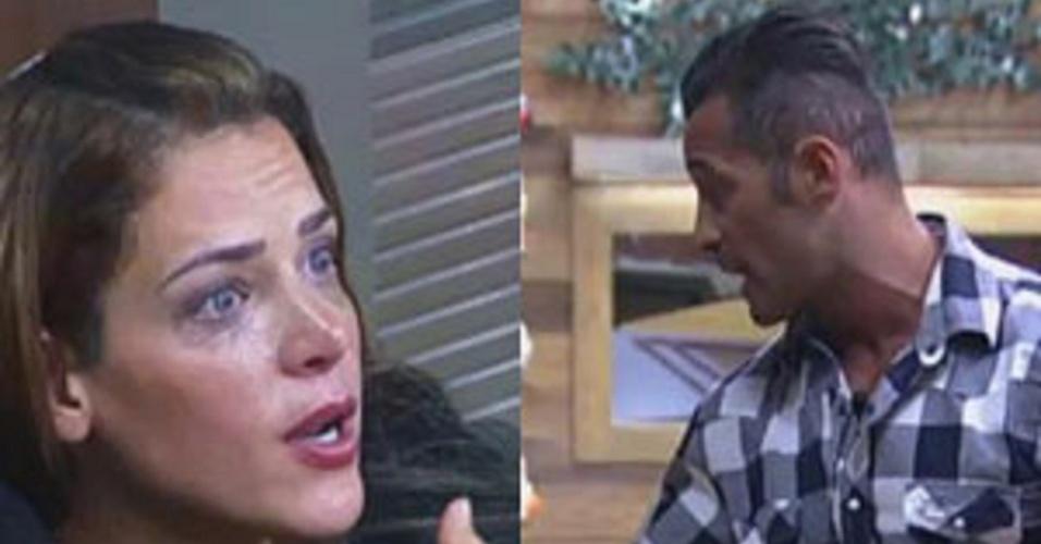 Após ser indicada à roça, Denise Rocha tira satisfação com Marcos Oliver
