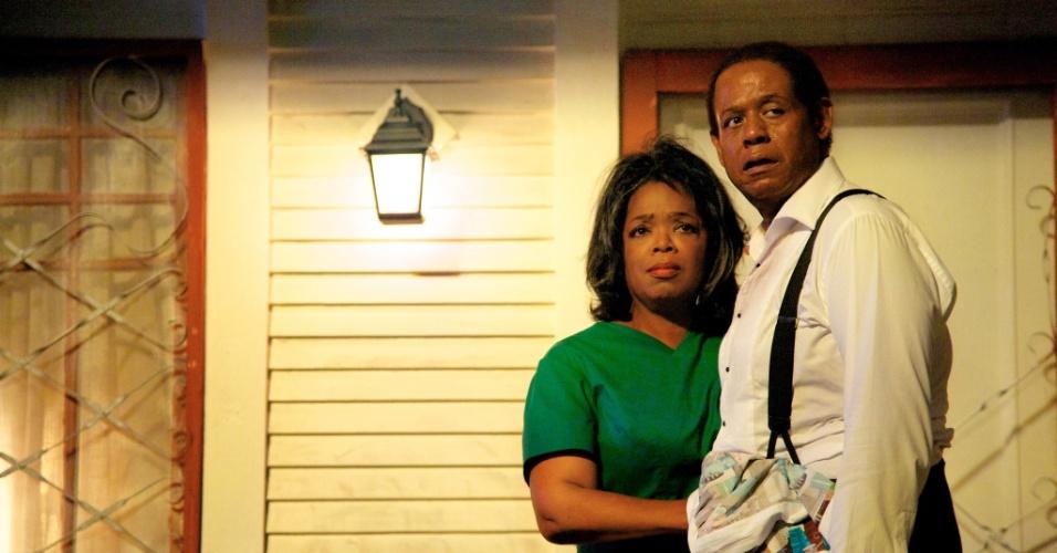 Forest Whitaker e Oprah Winfrey em cena de