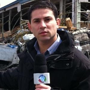 Repórter da Record André Tal