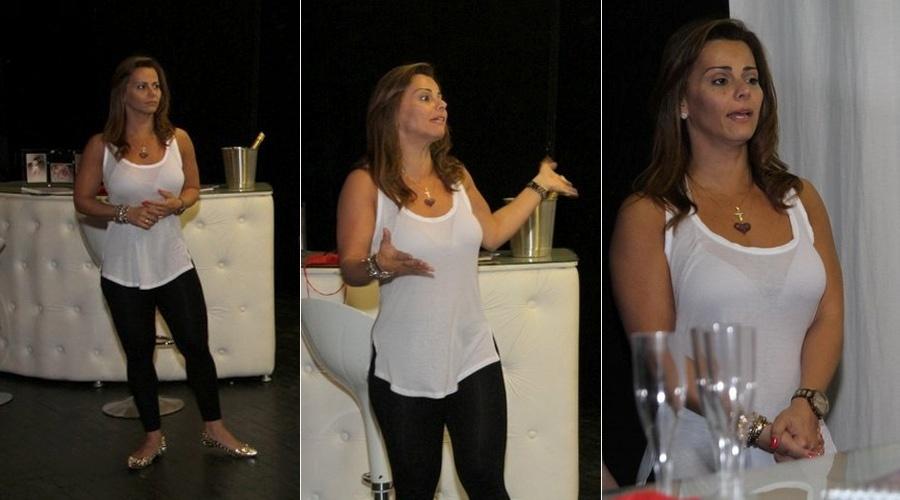 26.ago.2013 - Viviane Araújo participou dos ensaios da peça