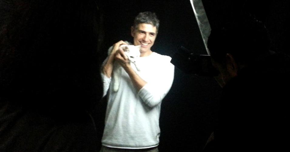 26.ago.2013- Reynaldo Gianecchini participou na tarde desta segunda-feira, 26, de um ensaio de fotos para a exposição